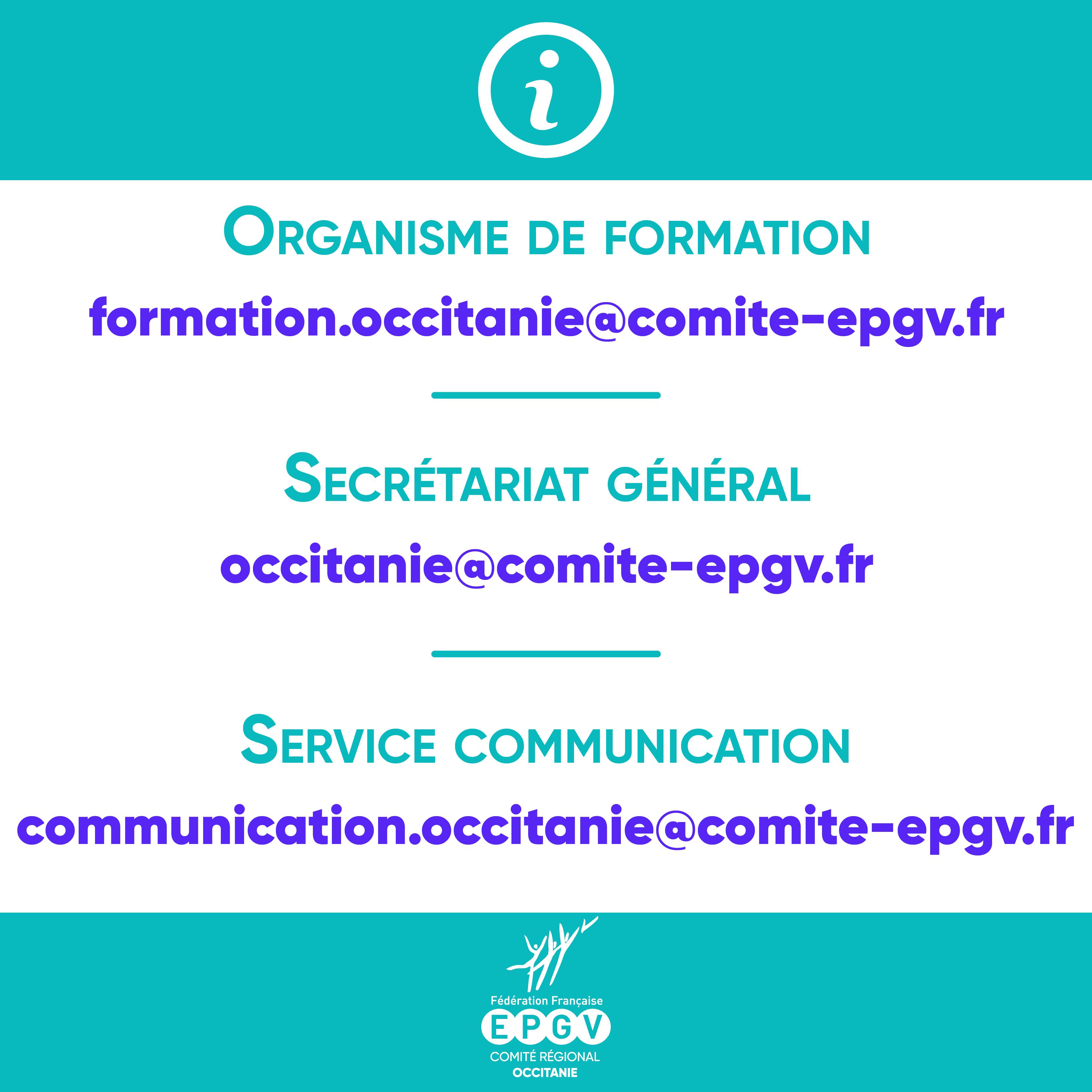 les adresses mail du COREG EPGV Occitanie
